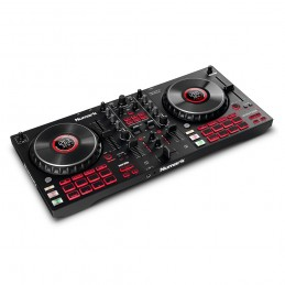Controlador DJ de 4 decks con interface de audio, ruedas con display y pads - Mixtrack Platinum FX - NUMARK - Imagen 1