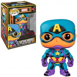 Funko pop marvel black light capitan america multicolor - Imagen 1